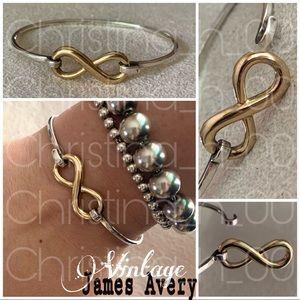 14k gold Vintage James Avery infinity bracelet